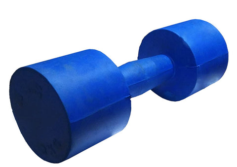 Rubber Single Piece Dumbbell (Blue) - Best Price online Prokicksports.com