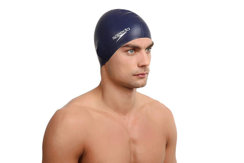 Speedo Silicon Flat Swimcap (Navy) - Best Price online Prokicksports.com