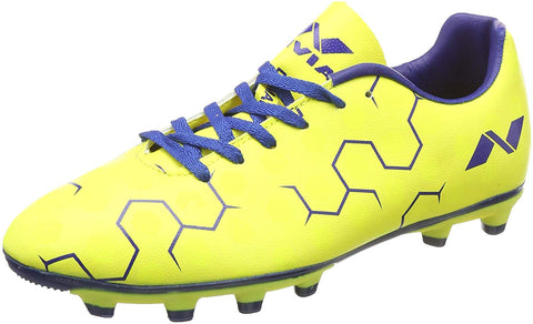 Nivia Ditmar Football Shoes, Men's (Yellow/Blue) - Best Price online Prokicksports.com