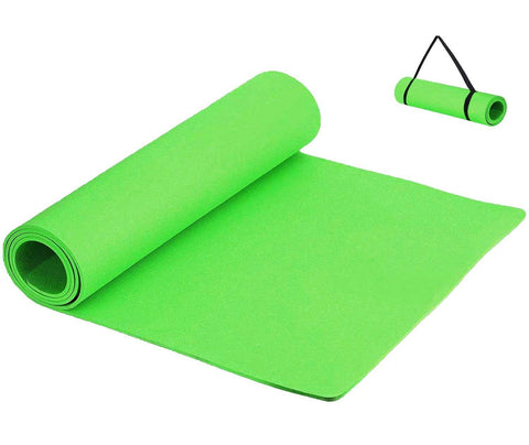 Prokick Anti Skid EVA Yoga Mat for Men and Women - 4MM - Neon Green - Best Price online Prokicksports.com