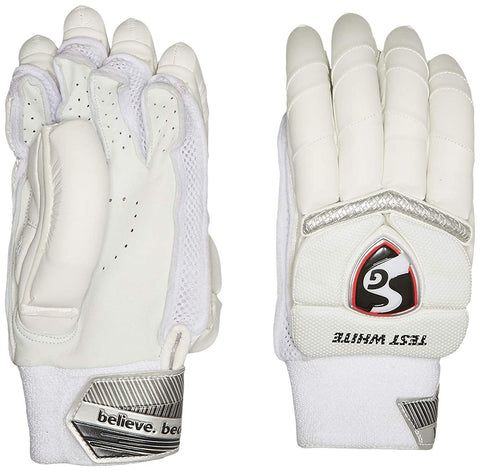 SG Batting Gloves SG Test White LH Leather Left Hand Batting Glove White - Best Price online Prokicksports.com