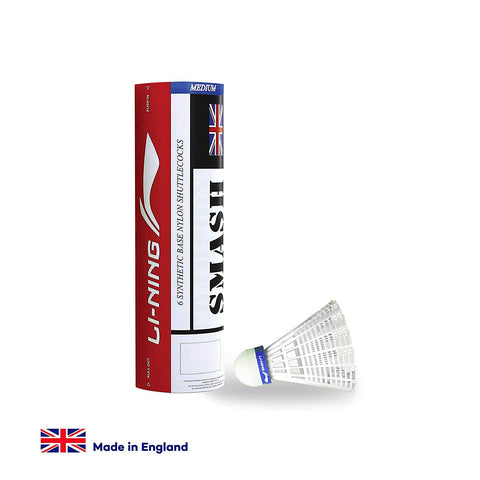 Li-Ning Smash Nylon Shuttlecocks - White (Pack of 6 Shuttles) - Best Price online Prokicksports.com