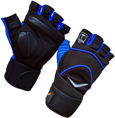 Vicky Elite Fitness Gym Gloves - Blue - Best Price online Prokicksports.com