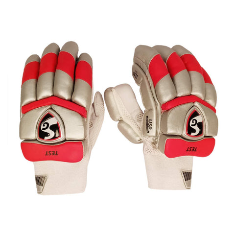 SG 2020 Edition Test Professional RH Batting Gloves - Silver/Red (Punjab) - Best Price online Prokicksports.com