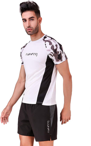 Nivia Camo1 Sublimated Round Neck Sports T-shirt, White - Best Price online Prokicksports.com