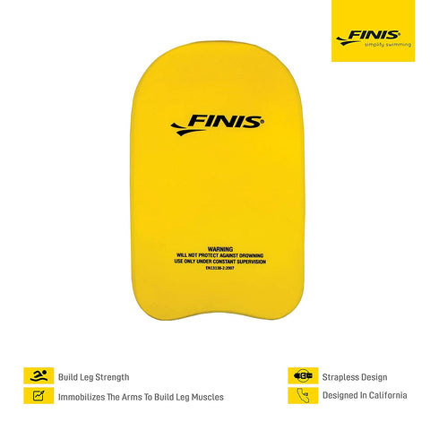 Finis 1.05.035.50 Foam Senior Foam Kickboard (Yellow) - Best Price online Prokicksports.com