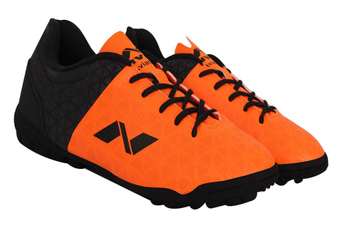 Nivia Aviator 102705 Football Futsal Shoes (Orange/Black) - Best Price online Prokicksports.com