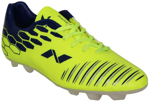 Nivia Premier Cleats Football Shoes, Men's (Yellow/Blue) - Best Price online Prokicksports.com