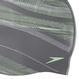 Speedo Reversible Moulded Silicon Swimming Cap (Silver/Green) - Best Price online Prokicksports.com