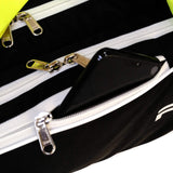 Prokick Neon Series Badminton Kitbag with Double Zipper Compartments - Black/Lime - Best Price online Prokicksports.com