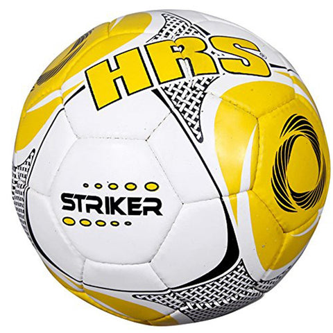 HRS Striker Tango Synthetic Rubber Football - Size 5 (Yellow) - Prokicksports.com