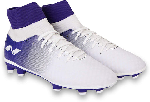 Nivia Oslar Blade Football studs, White/Purple - Best Price online Prokicksports.com