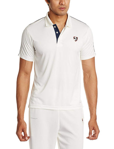 SG Century Half Sleeves Cricket Shirt (White) - Best Price online Prokicksports.com