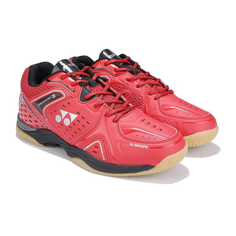 Yonex AEROCOMFORT 3 Non Marking Badminton Shoes Red Black - Best Price online Prokicksports.com