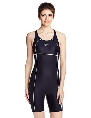 Speedo Women's Swimwear Classic Legsuit (Navy/White) - Best Price online Prokicksports.com