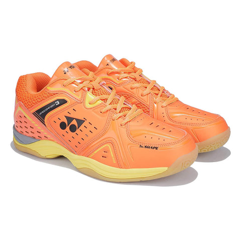 Yonex AEROCOMFORT 3 Non Marking Badminton Shoes Orange Yellow - Best Price online Prokicksports.com