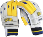 HRS Tournament Right Hand Batting Gloves (White/Yellow) - Best Price online Prokicksports.com