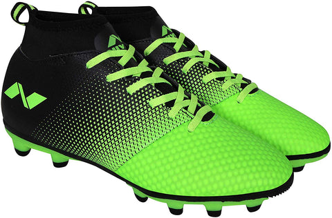 Nivia Ashtang Football Stud Shoes - Green - Best Price online Prokicksports.com