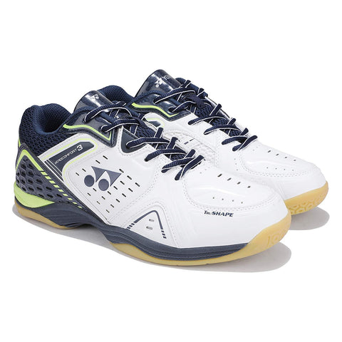 Yonex AEROCOMFORT 3 Non Marking Badminton Shoes White Oxford Blue - Best Price online Prokicksports.com
