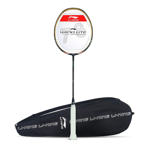 Li-Ning Wind Lite 700 Carbon Fibre Strung Badminton Racket Dark Purple/Peach - Best Price online Prokicksports.com