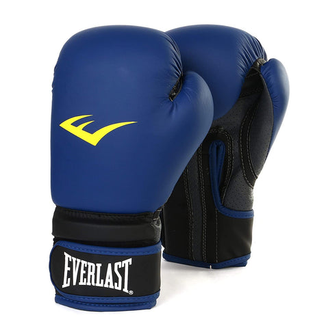 Everlast Matt Boxing Gloves with Injection Moulder - Blue - Best Price online Prokicksports.com