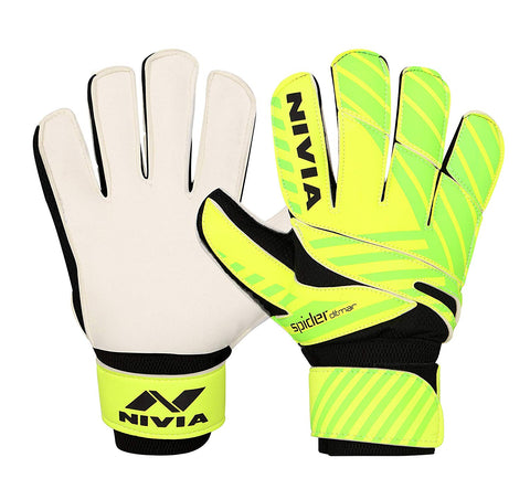 Nivia 645 Ditmar Spider Goalkeeper Gloves, Men's (Green/Black) - Best Price online Prokicksports.com