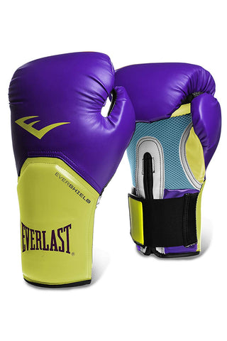 Everlast Pro Style Elite Training Glove, Purple-Yellow - Best Price online Prokicksports.com