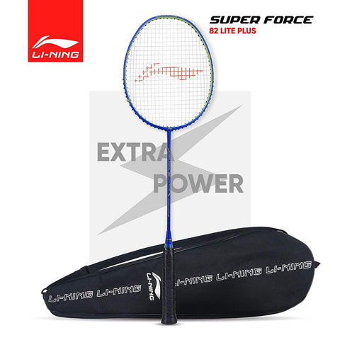 Li-Ning Super Force 82 Lite Plus Strung Badminton Racquet With Full Cover (Blue/Gold) - Best Price online Prokicksports.com