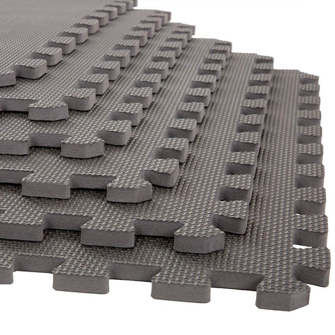 Prokick Exercise Mat with EVA Foam Interlocking - Grey - Best Price online Prokicksports.com