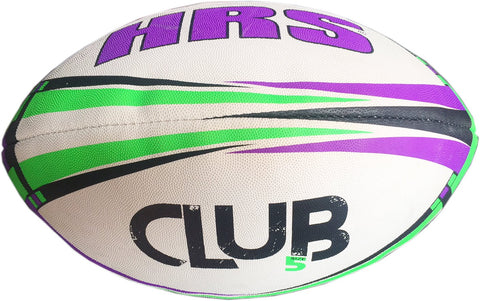 HRS Club Rugby Ball, Size-5, Purple Green - Best Price online Prokicksports.com