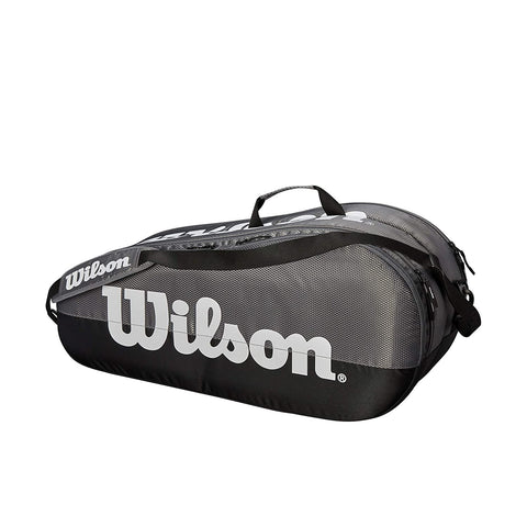 Wilson Team 2 Compartment 6PK Tennis Kit Bag, Grey - Best Price online Prokicksports.com
