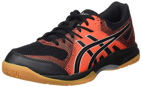 Asics Gel Rocket 9 Non Marking Badminton Shoes Black/Fiery Red - Best Price online Prokicksports.com