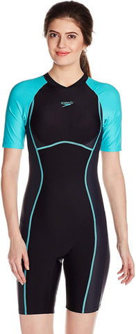 Speedo Female Swimwear Essential Spliced Kneesuit (Black, Oxide Grey and Bali Blue) - Best Price online Prokicksports.com