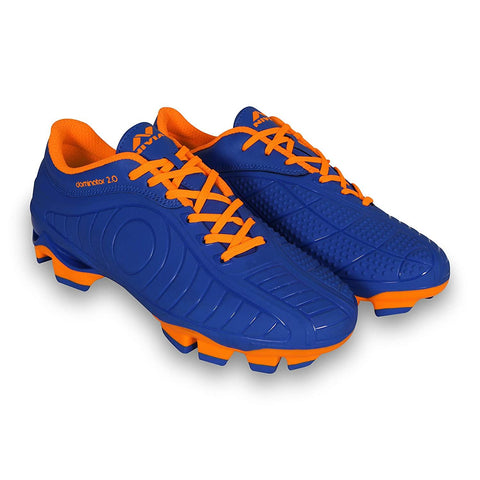 Nivia Dominator 2.0 Football Studs, Blue/Orange - Best Price online Prokicksports.com