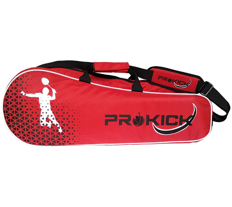 Prokick Badminton Kitbag with Double Zipper Compartments - Red/Black - Best Price online Prokicksports.com