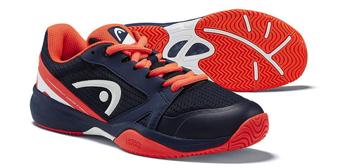 Head Sprint 2.5 Junior Tennis Shoes (Dark Blue/Neon Red) - Prokicksports.com