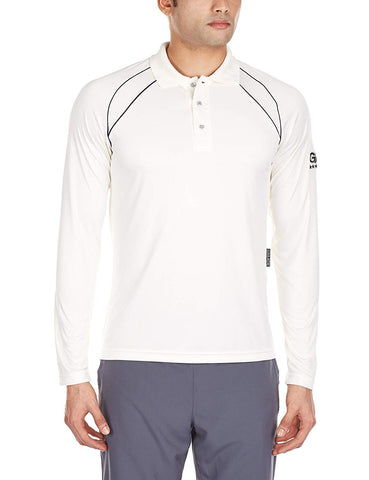 GM 7205 Full Sleeves Cricket T-Shirt (White/Navy) - Prokicksports.com