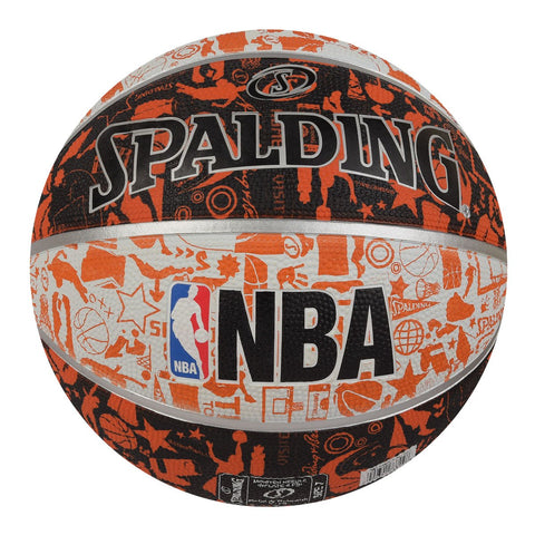Spalding Graffiti Basketball, Size 7 (Orange/White) - Best Price online Prokicksports.com