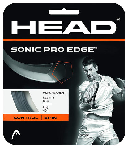 HEAD Sonic Pro Edge Tennis String 17L (Black) - Prokicksports.com