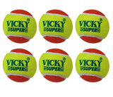 Vicky Cricket Tennis Ball Fun - Heavy, Double Colour - Best Price online Prokicksports.com