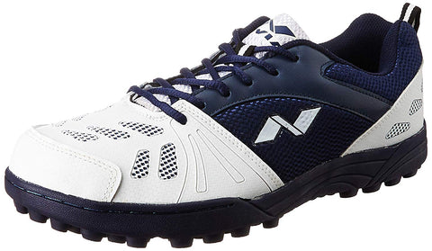 Nivia Caribbean Cricket Shoes, Men's (White/Blue) - Best Price online Prokicksports.com
