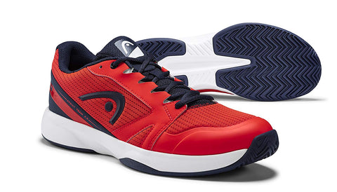 Head Revolt 2.5 Junior Tennis Shoes (Neon Red/Dark Blue) - Prokicksports.com