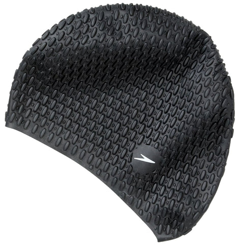 Speedo Bubble Swimcap (Black) - Best Price online Prokicksports.com