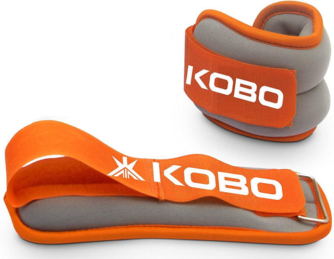 Kobo Ankle Weight/Wrist Weight (Orange/Grey) (Pair) - Best Price online Prokicksports.com