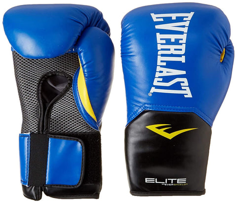 Everlast Elite Pro Style Training Gloves, Blue, 8 oz - Best Price online Prokicksports.com