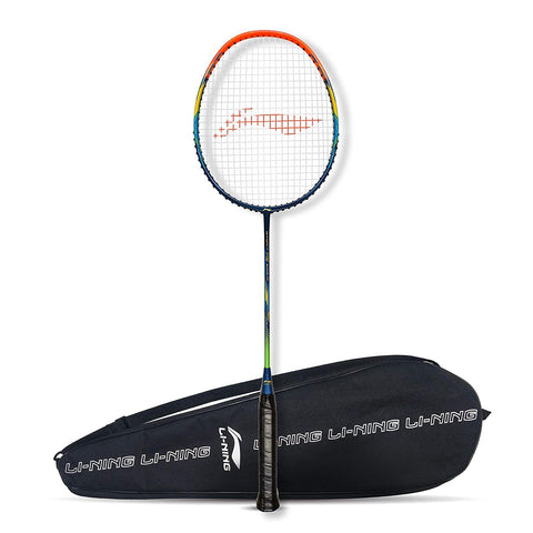 Li-Ning G-Force Superlite 3700 Strung Badminton Racquet Navy/Orange - Best Price online Prokicksports.com