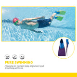 Finis Long Floating Fins, Junior (Blue/Purple) - XXXXS Jr 6-8 - Best Price online Prokicksports.com