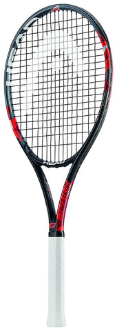 Head Graphite Tennis Racquet, Senior 4 3/8-inch (Black/Red) - Prokicksports.com