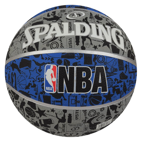 Spalding Graffiti Basketball, Size 7 (Grey/Blue) - Best Price online Prokicksports.com
