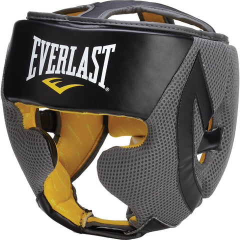 Everlast 4044 Boxing Head Gear (Black/Grey) - Best Price online Prokicksports.com